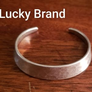 NWOT Lucky Brand Silver Adjustable Bangle Bracelet